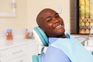 Male patient visiting dentist in Jacksonville for checkup